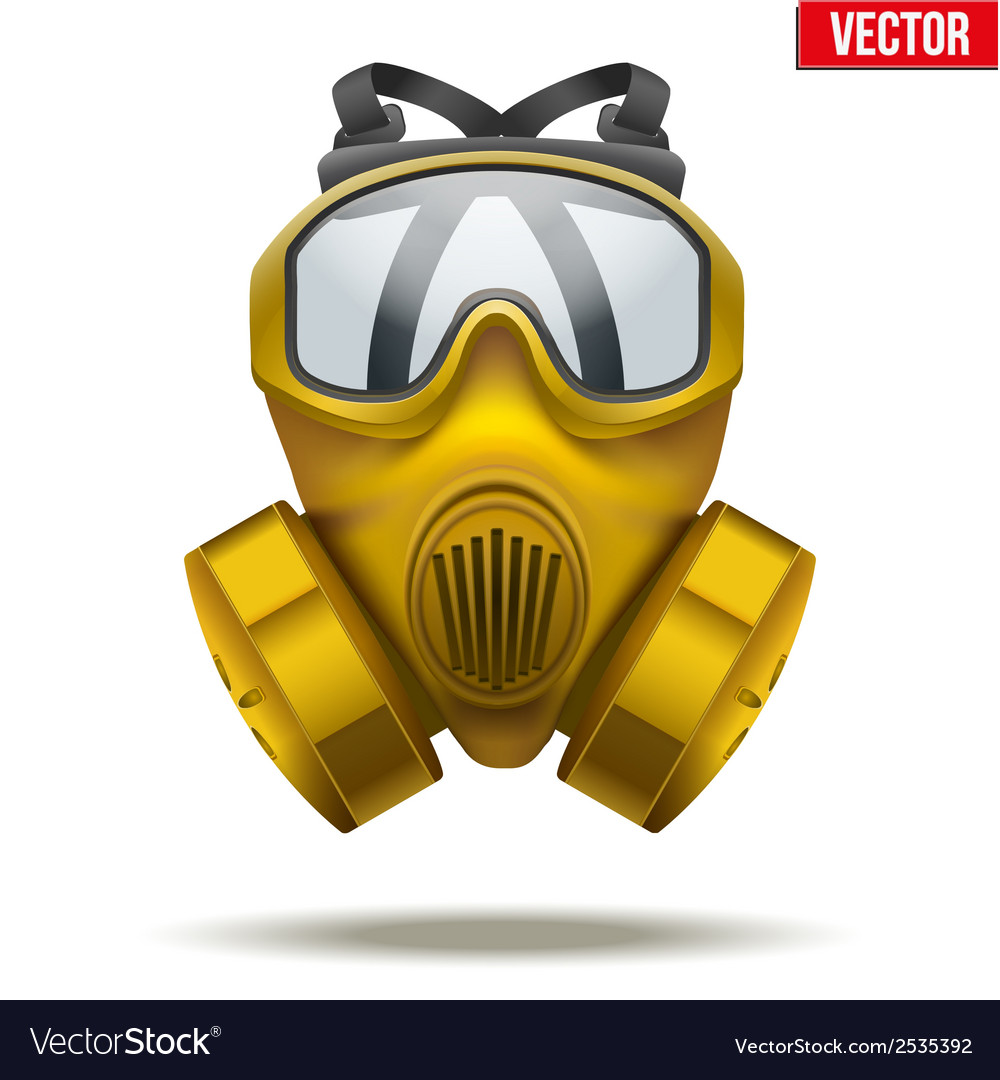 Yellow gas mask respirator vector | Price: 1 Credit (USD $1)