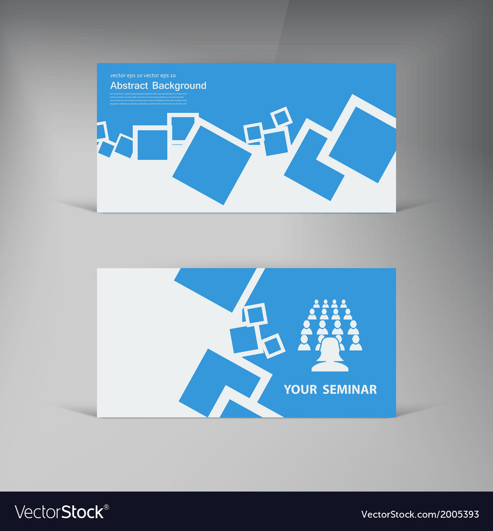 Banner abstract blue brochure squares vector | Price: 1 Credit (USD $1)