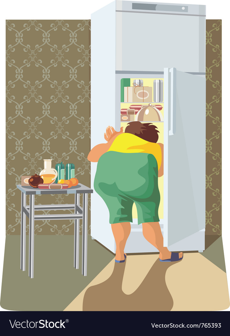 Diet overweight woman vector | Price: 3 Credit (USD $3)