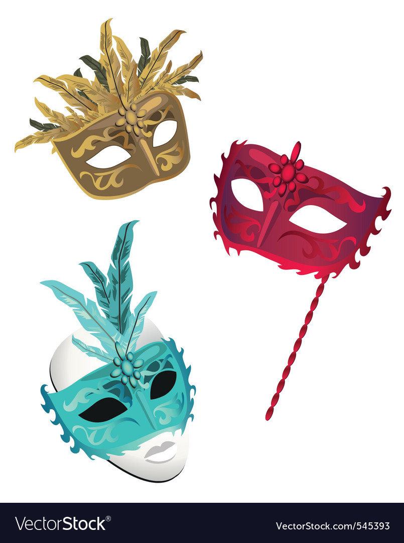 French masks vector
