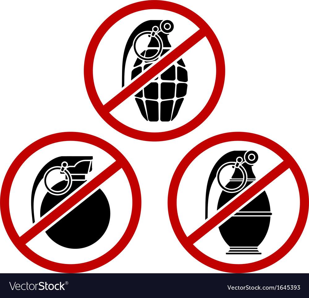 No grenades vector | Price: 1 Credit (USD $1)