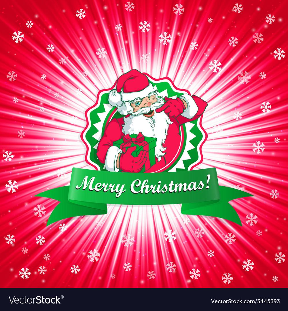 Santa claus christmas card vector | Price: 1 Credit (USD $1)