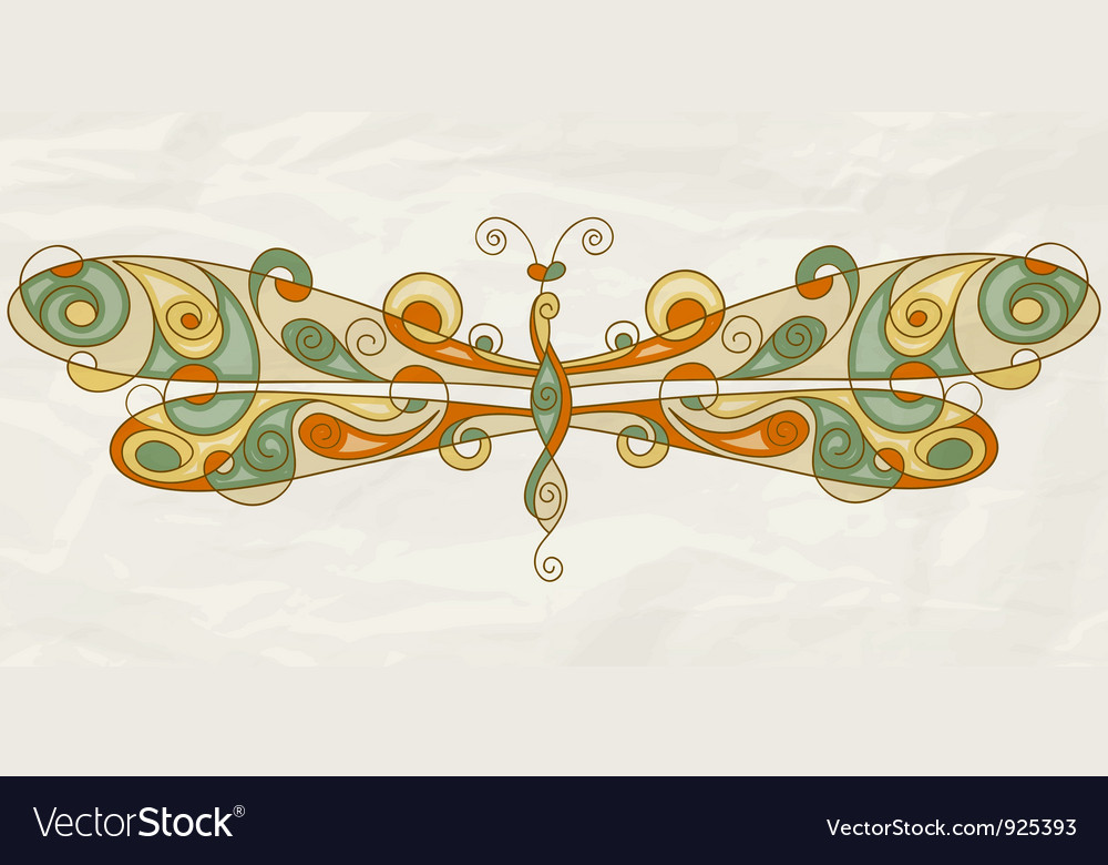 Stylized dragonfly vector | Price: 1 Credit (USD $1)