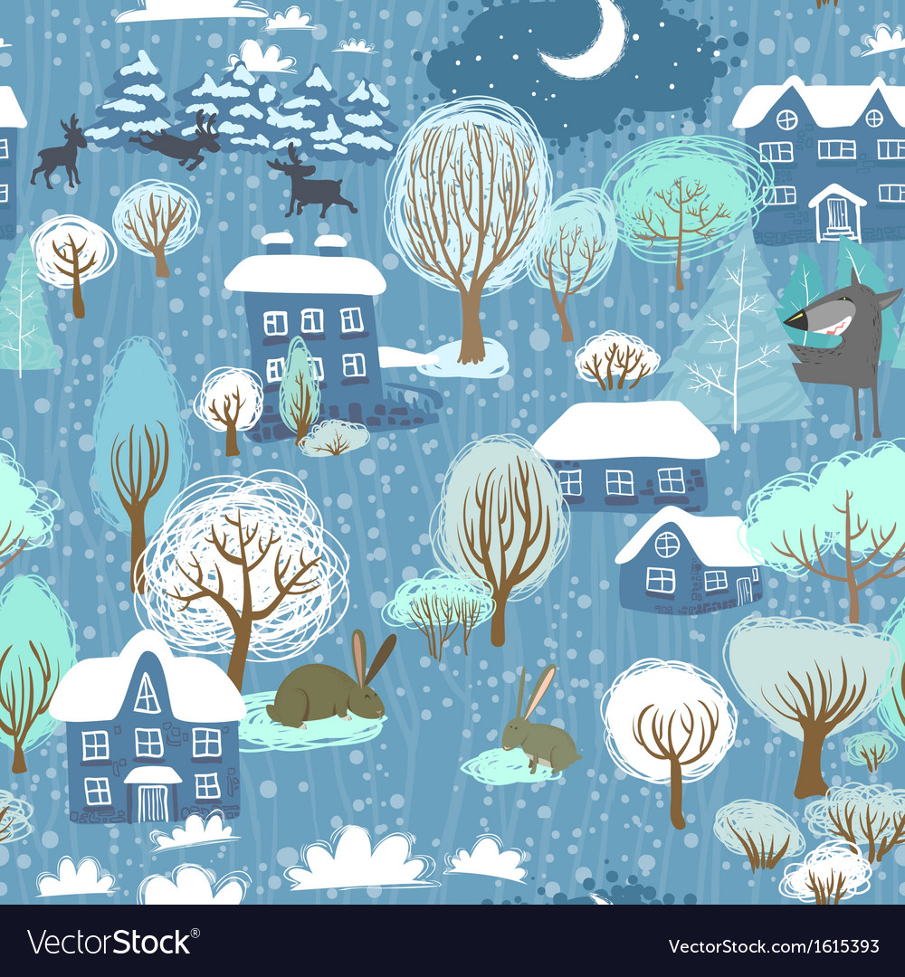 Winter seamless vector | Price: 1 Credit (USD $1)