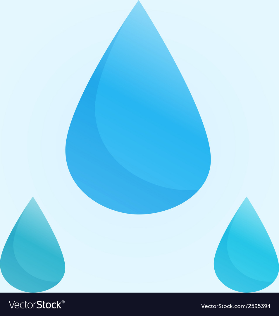 Blue water drops vector | Price: 1 Credit (USD $1)