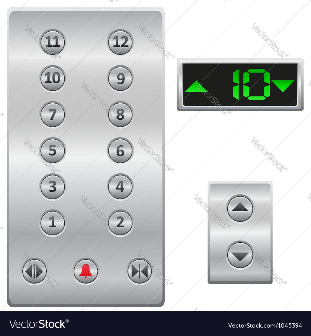 Elevator buttons panel vector | Price: 1 Credit (USD $1)