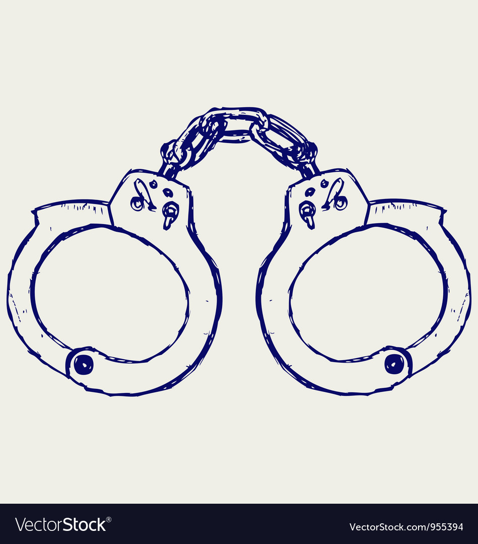 Metal handcuffs vector | Price: 1 Credit (USD $1)