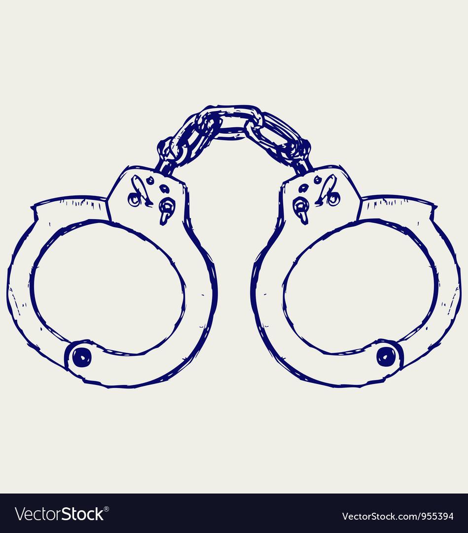 Metal handcuffs vector | Price: 1 Credit (USD $1)