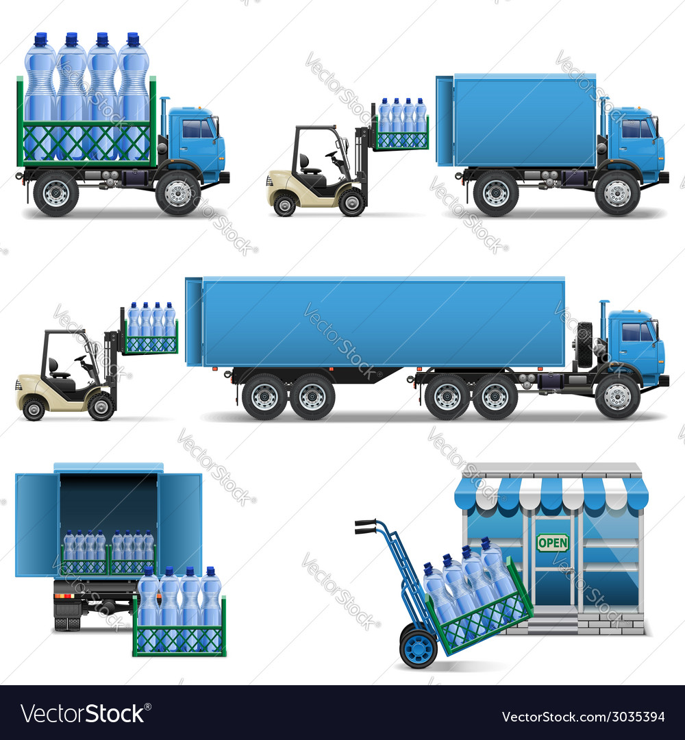 Mineral water shipping vector | Price: 3 Credit (USD $3)