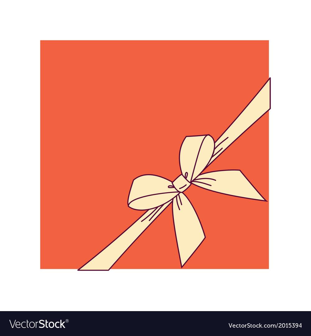 Orange box and yellow bow vector | Price: 1 Credit (USD $1)