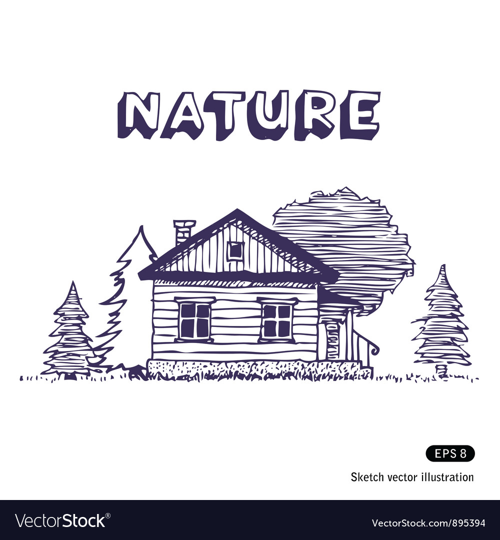 Rural lodge vector | Price: 1 Credit (USD $1)