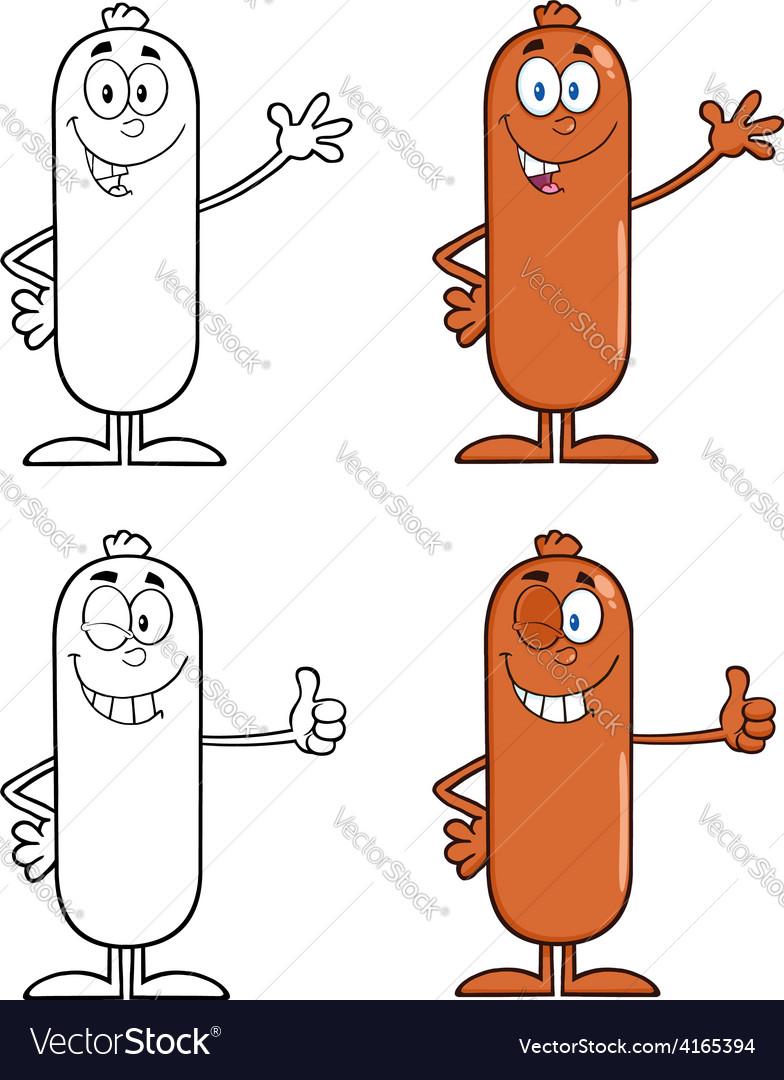 Sausage cartoon vector | Price: 1 Credit (USD $1)