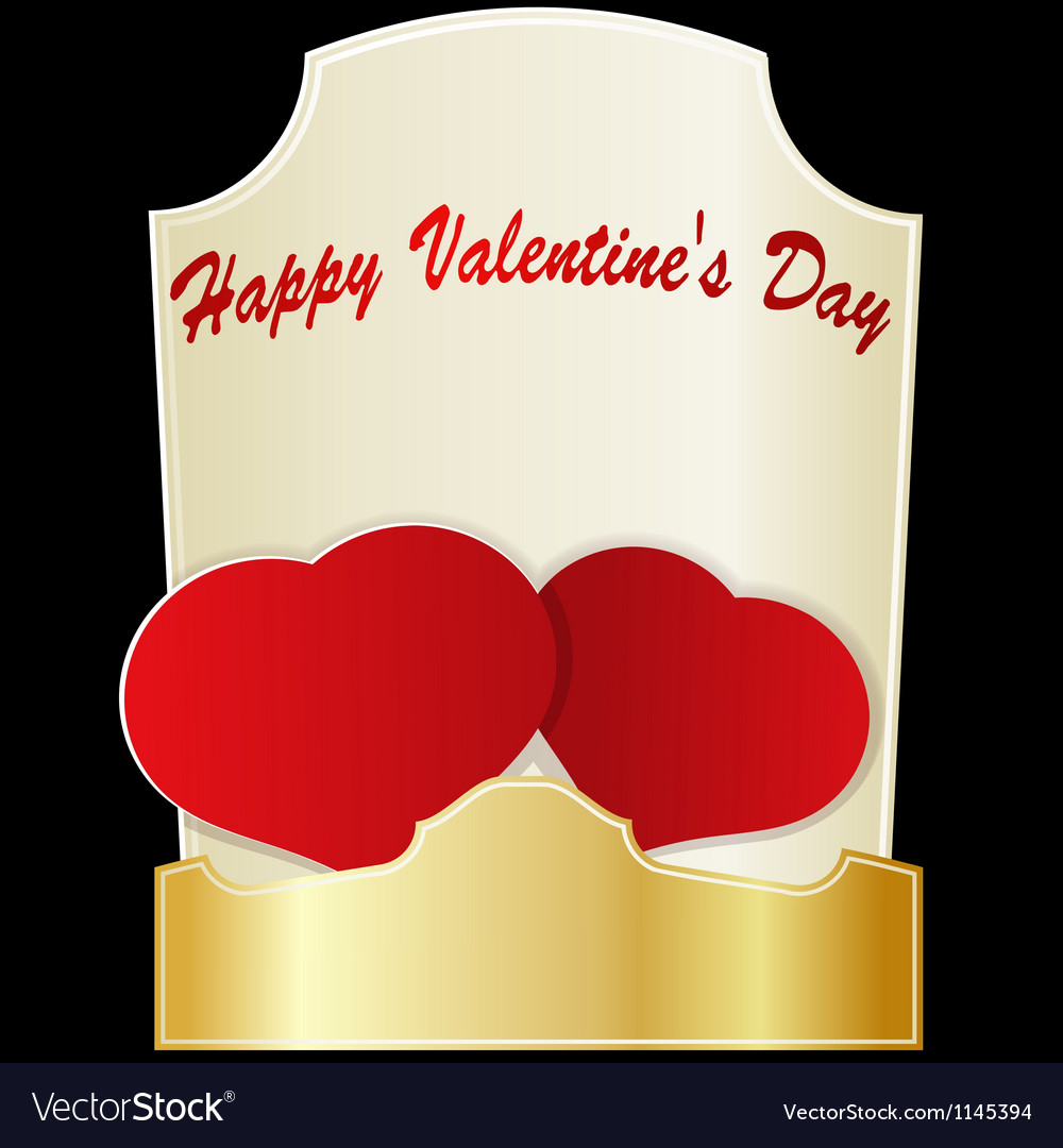 Two red hearts on valentines day eps10 vector | Price: 1 Credit (USD $1)