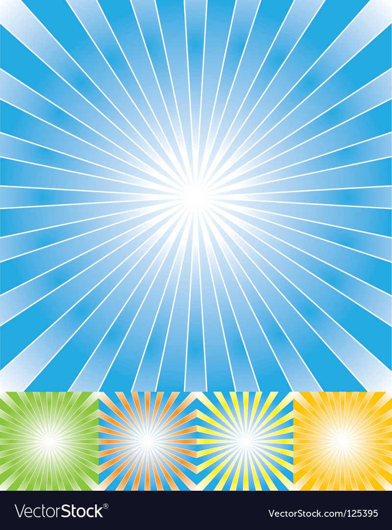 Abstract rays background set cmyk vector | Price: 1 Credit (USD $1)