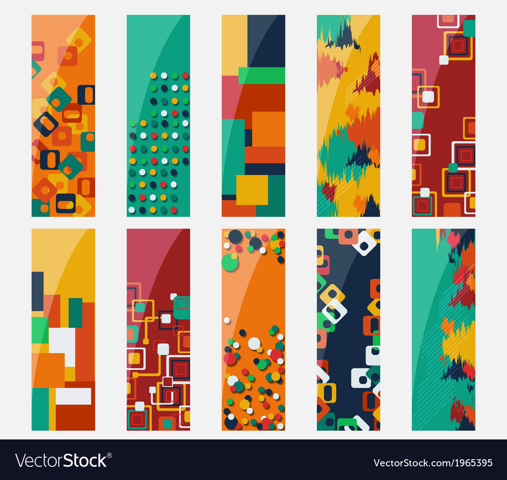 Abstract various 10 colorful header set collection vector | Price: 1 Credit (USD $1)