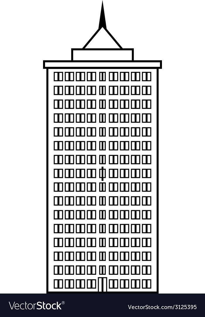 Condominium icon vector | Price: 1 Credit (USD $1)