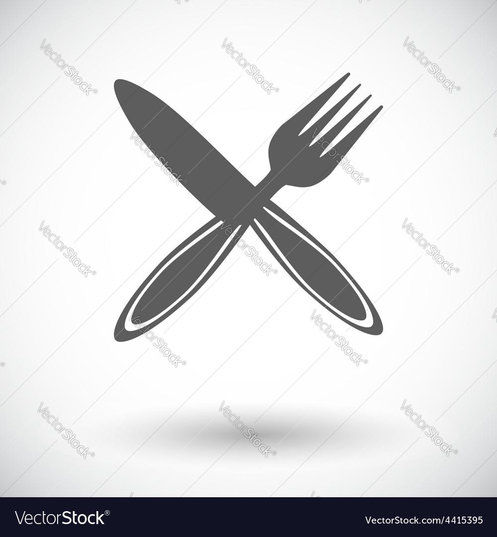 Cutlery single flat icon vector | Price: 1 Credit (USD $1)