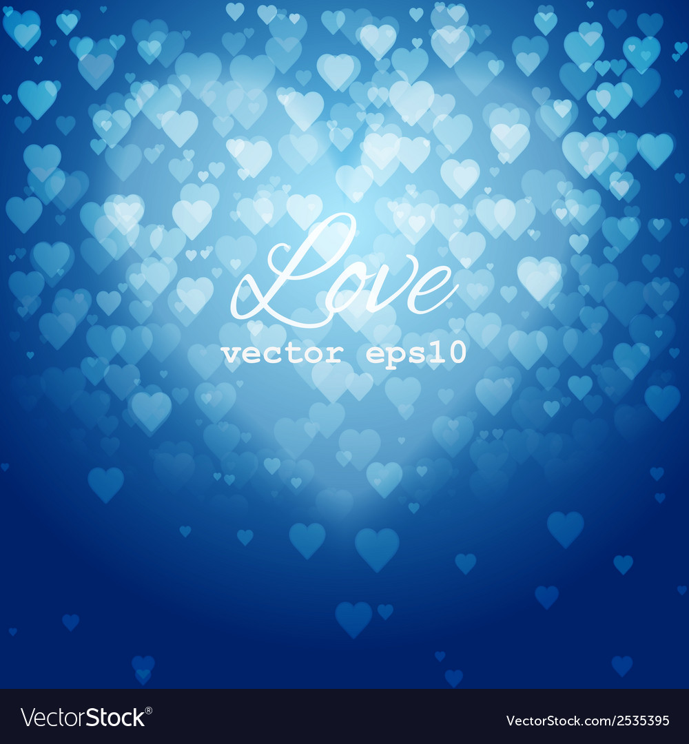 Festive blurred blue background with bokeh vector | Price: 1 Credit (USD $1)