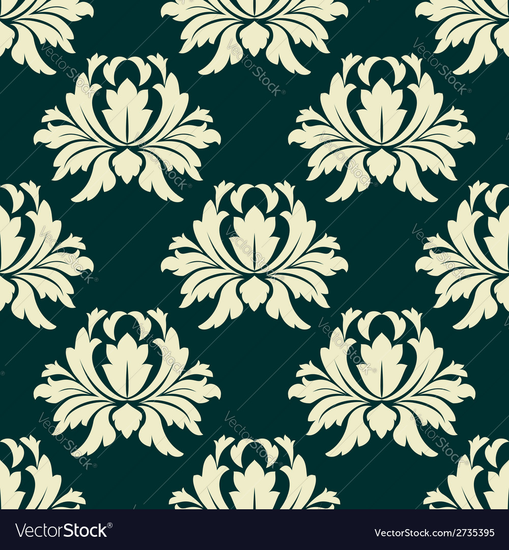 Floral seamless pattern with light green flowers vector | Price: 1 Credit (USD $1)