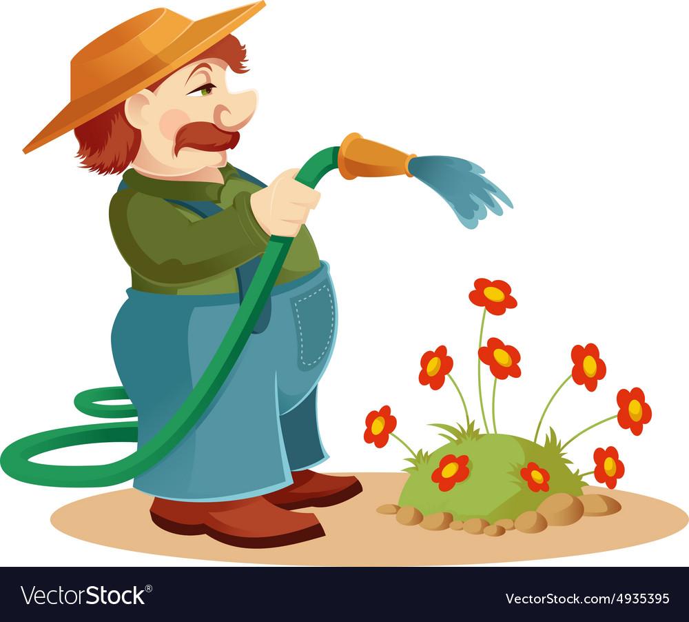 Gardener man vector