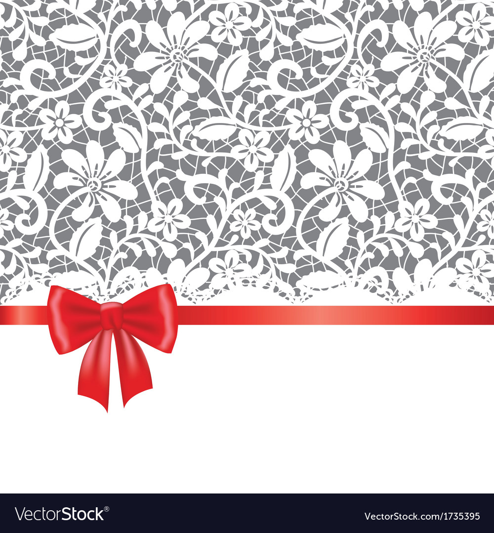Lace red ribbon and bow vector | Price: 1 Credit (USD $1)