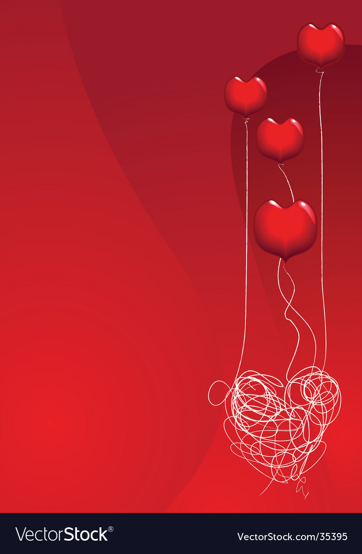 Love is a balloon vector | Price: 1 Credit (USD $1)
