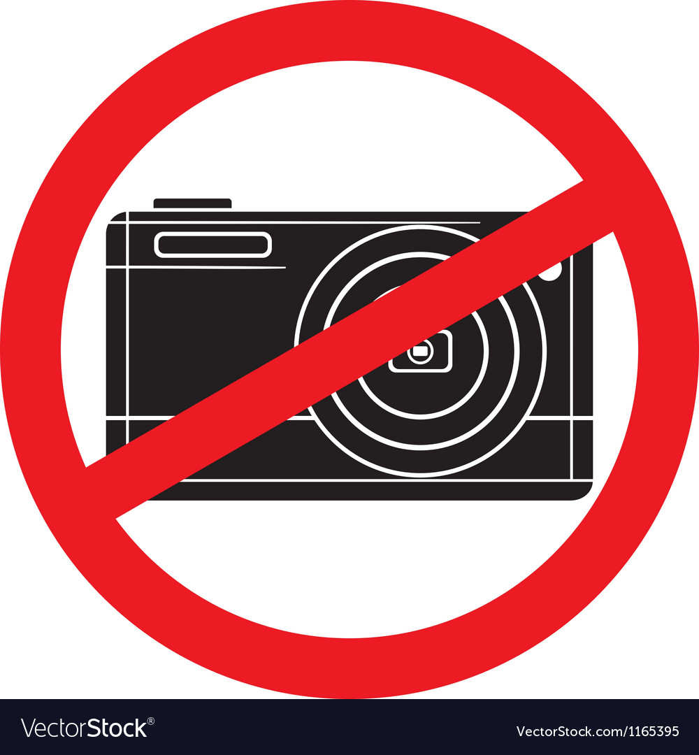 No camera symbol vector | Price: 1 Credit (USD $1)
