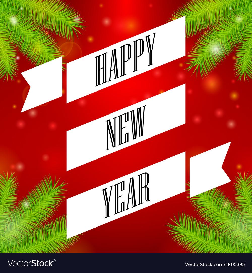 Ribbon happy new year vector | Price: 1 Credit (USD $1)