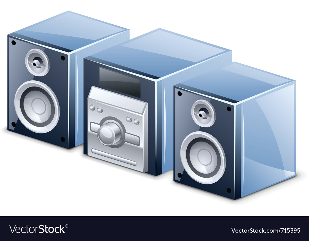 Sound system vector | Price: 3 Credit (USD $3)