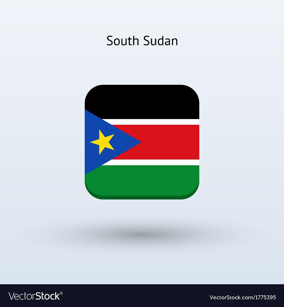South sudan flag icon vector | Price: 1 Credit (USD $1)