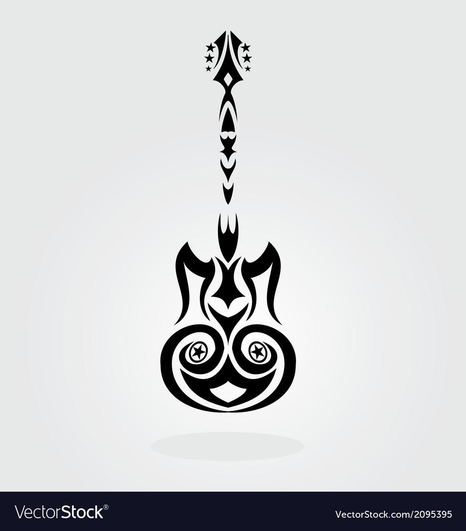 Tribal guitar vector | Price: 1 Credit (USD $1)