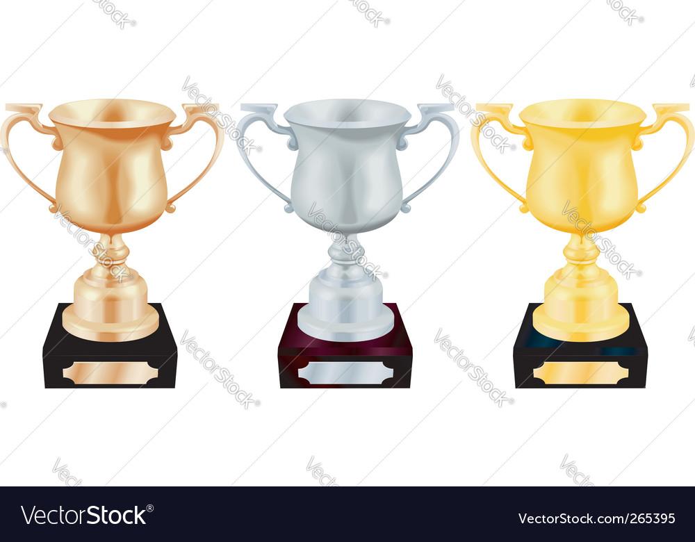 Trophy cups vector | Price: 3 Credit (USD $3)