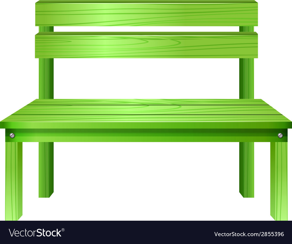 A green bench vector | Price: 1 Credit (USD $1)