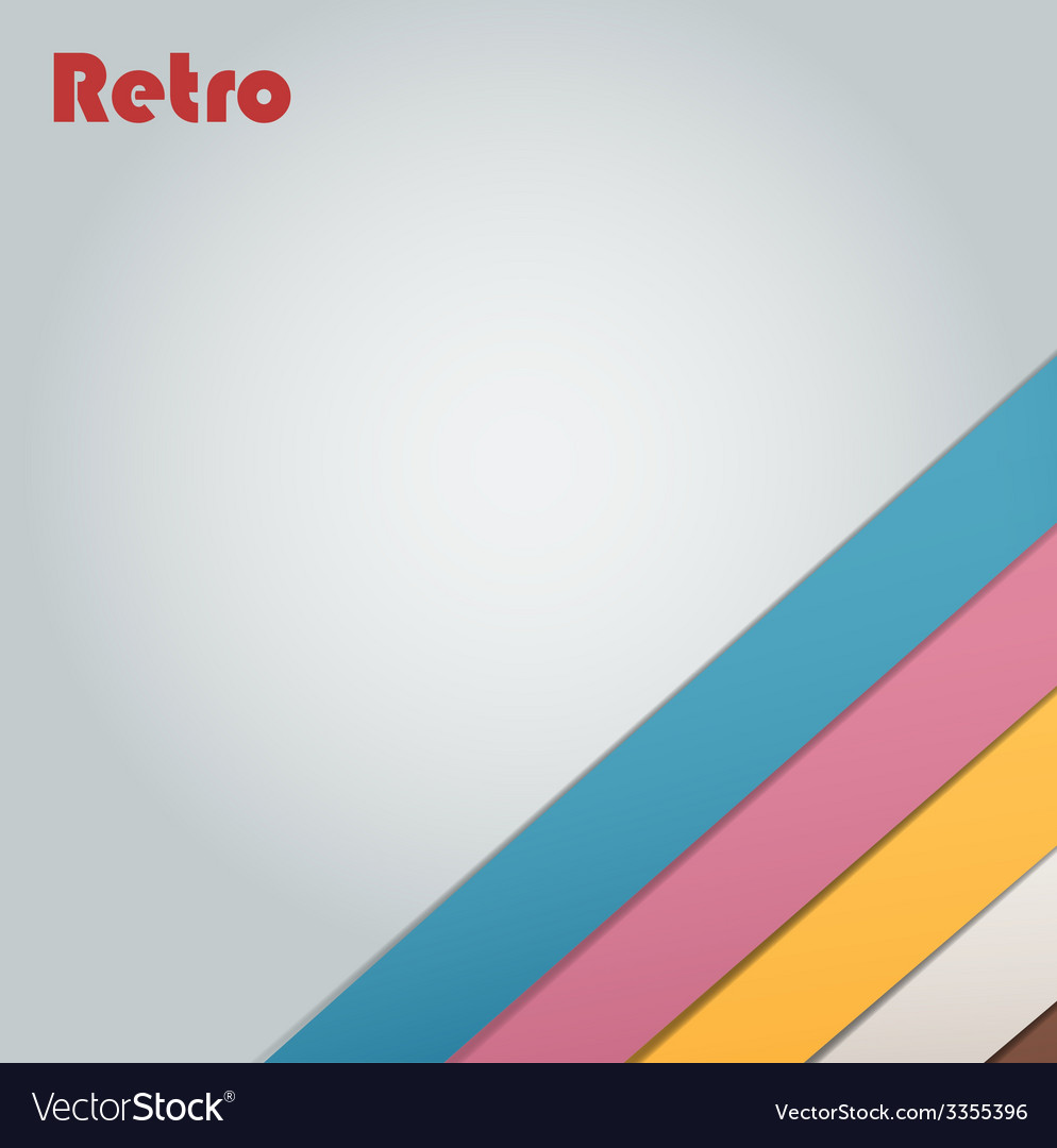 Abstract retro stripe background vector | Price: 1 Credit (USD $1)