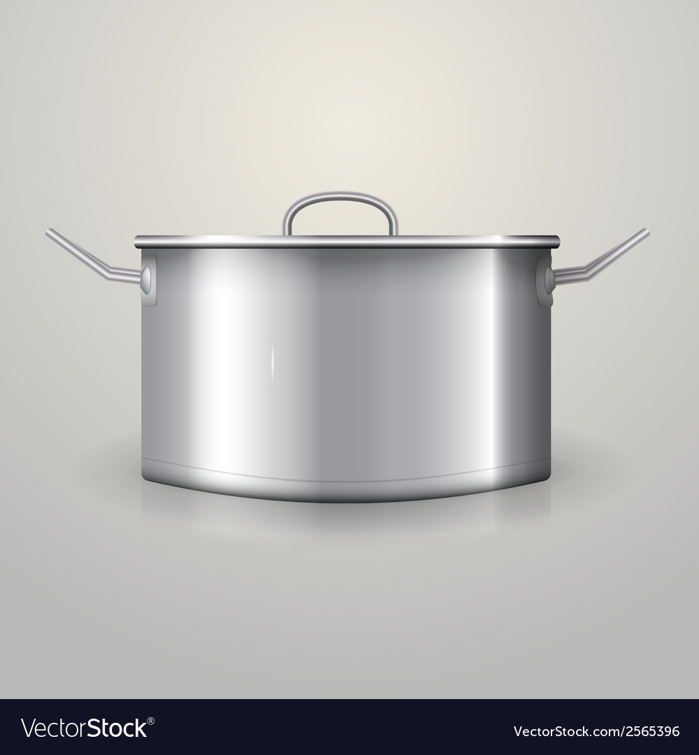 Aluminum saucepan vector | Price: 1 Credit (USD $1)