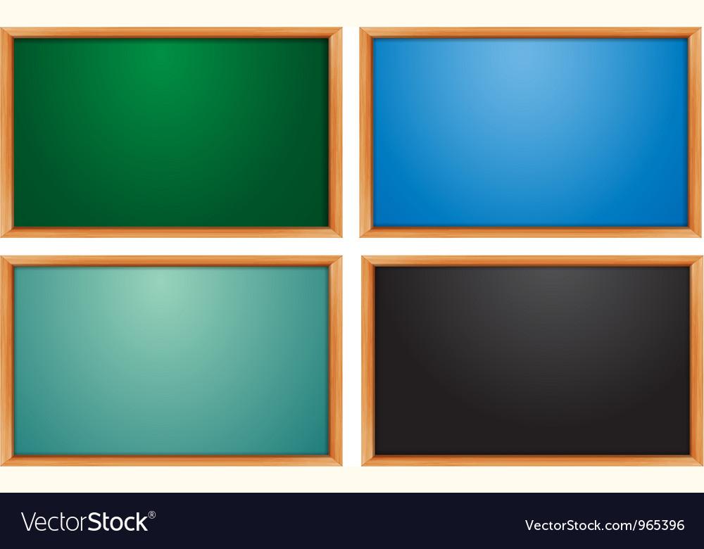Blank chalk board vector | Price: 1 Credit (USD $1)