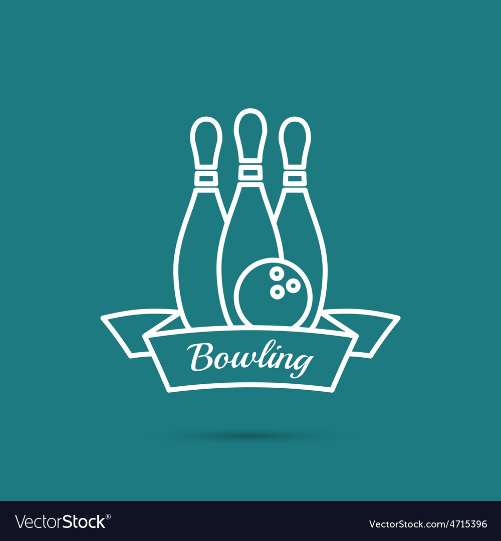Bowling pin and ball vector | Price: 1 Credit (USD $1)