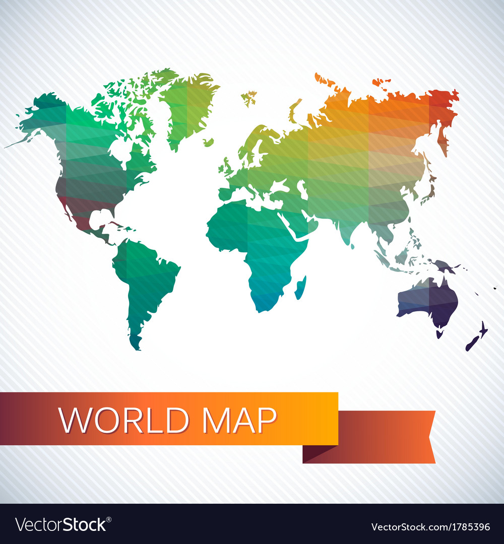 Bright map of the globe vector   Price: 1 Credit (USD $1)