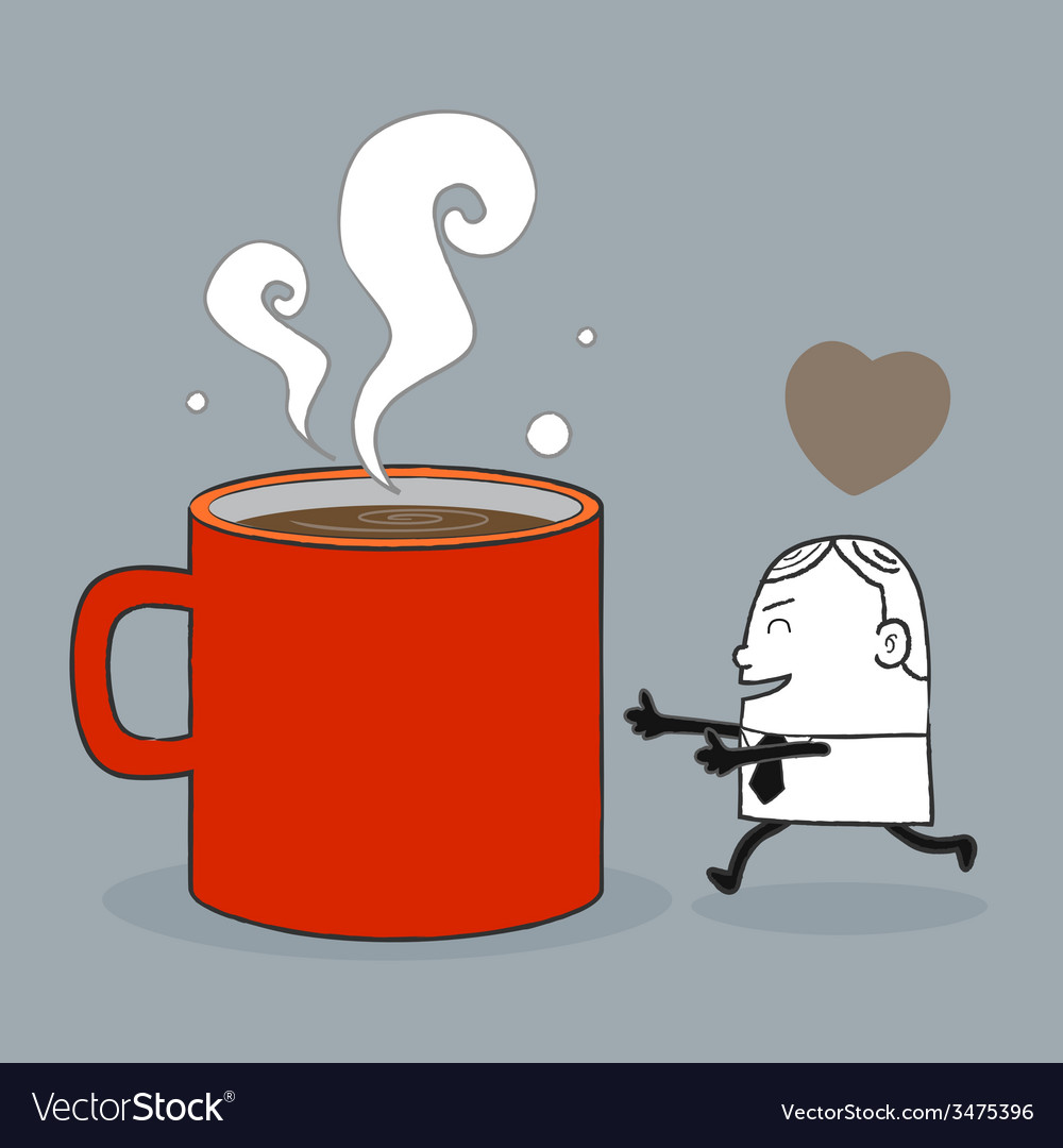 Busines man love coffee vector | Price: 1 Credit (USD $1)