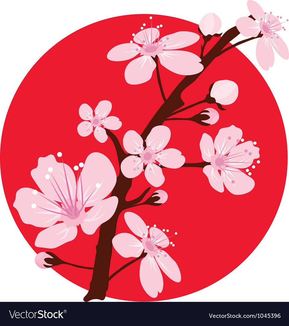 Cherry branch vector | Price: 1 Credit (USD $1)