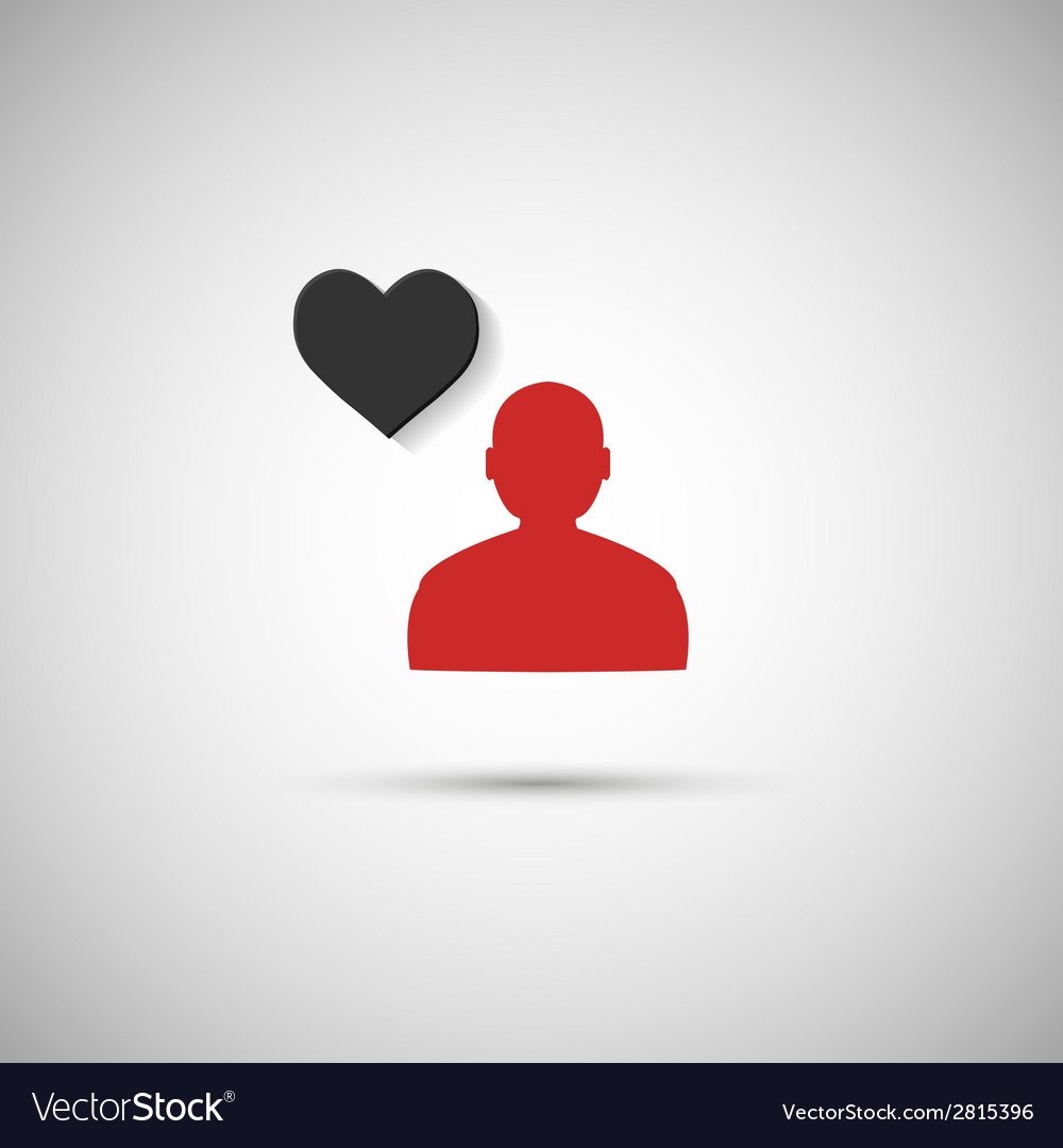 Flat icon human heart on a gray background vector | Price: 1 Credit (USD $1)
