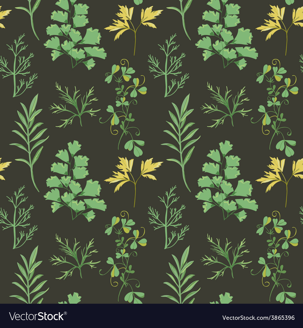 Floral background - leaves and herbs vector | Price: 1 Credit (USD $1)