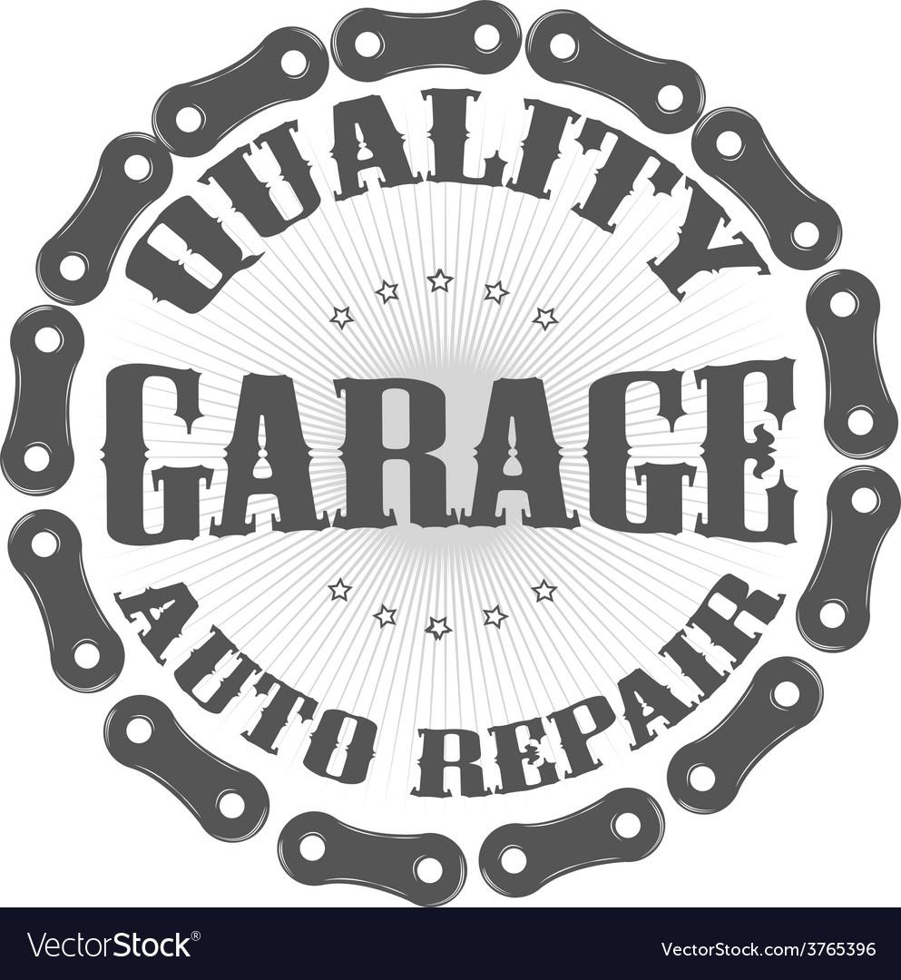 Garage auto vector | Price: 1 Credit (USD $1)
