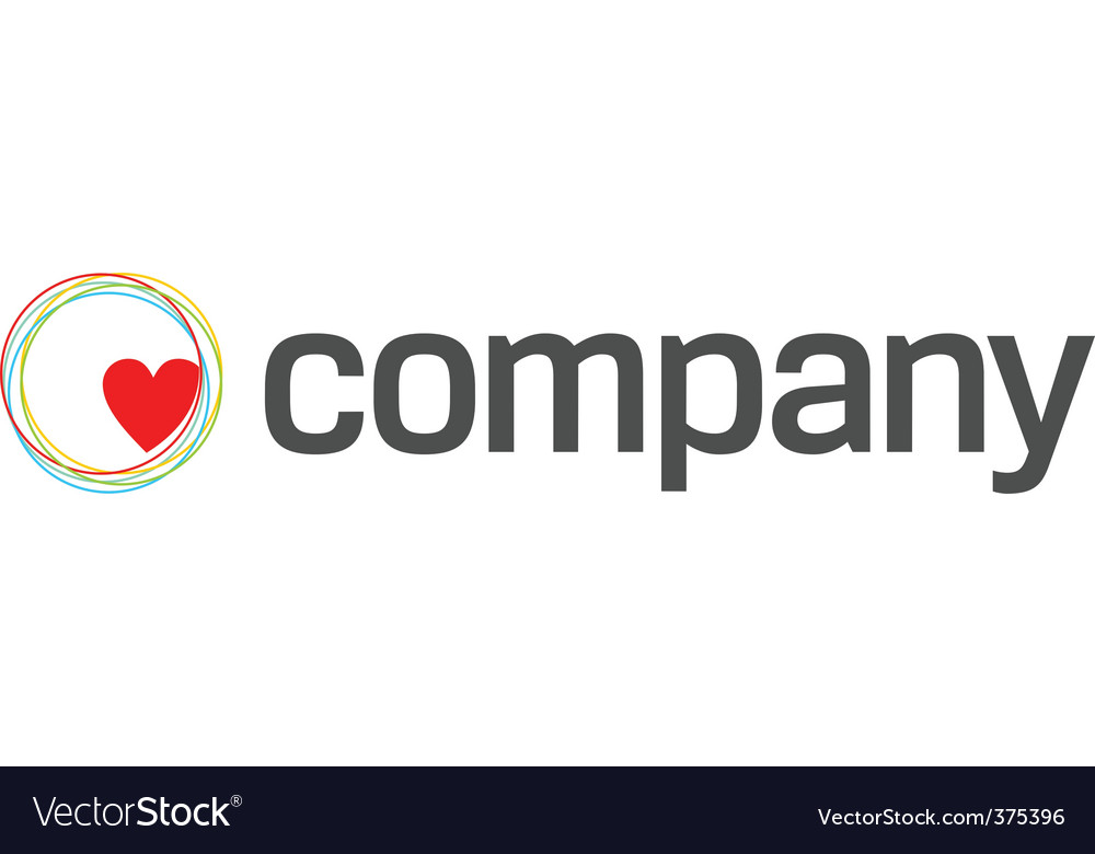 Heart care charity logo vector | Price: 1 Credit (USD $1)