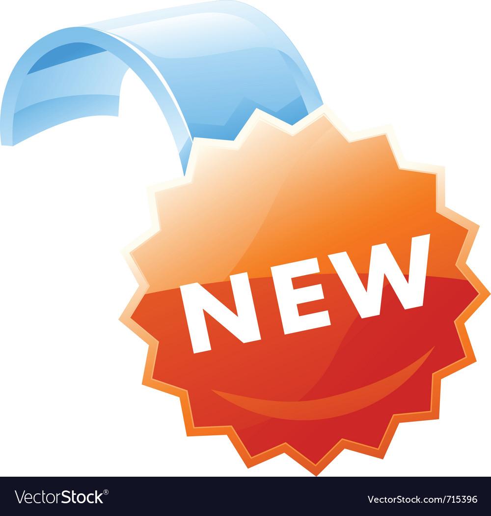 Label new vector | Price: 3 Credit (USD $3)