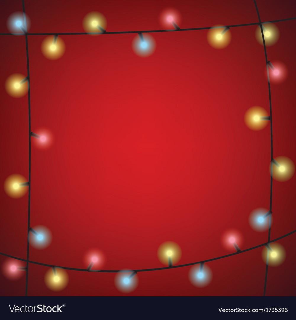 Luminous garland frame vector | Price: 1 Credit (USD $1)