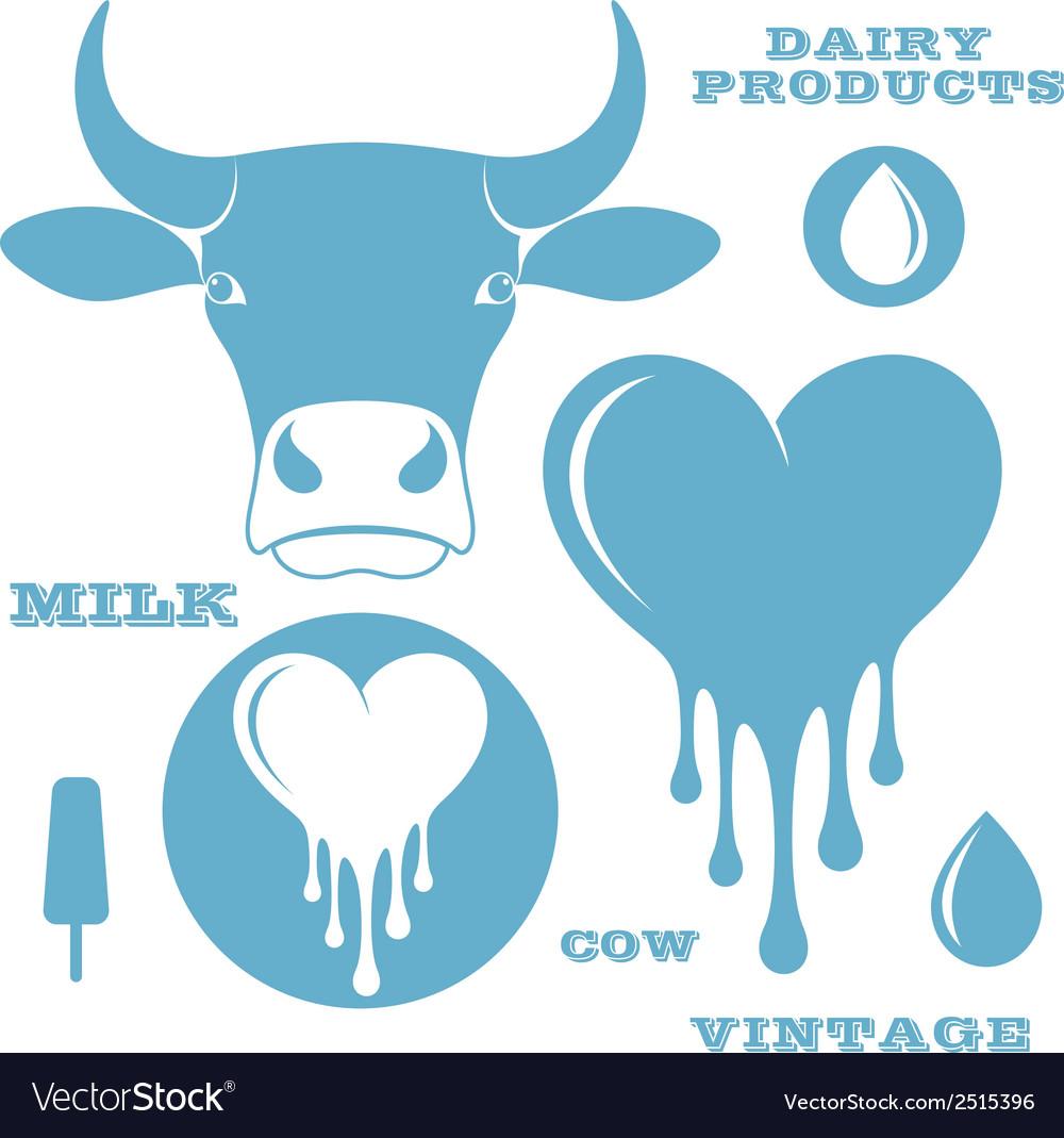 Milk cow vector | Price: 1 Credit (USD $1)