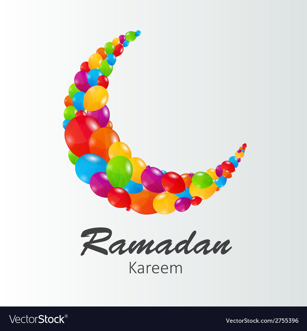 Moon background for muslim community festival vector | Price: 1 Credit (USD $1)