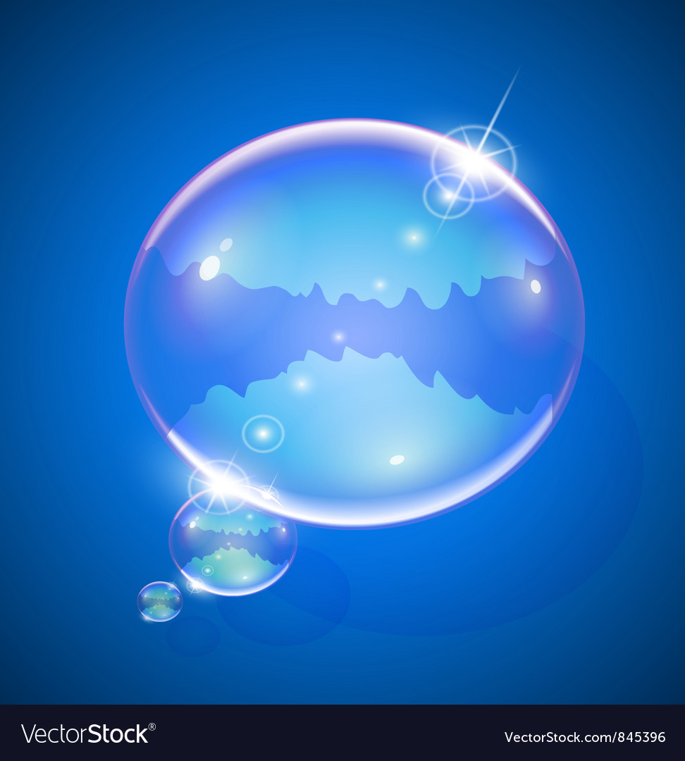 Soap bubble for message vector | Price: 3 Credit (USD $3)