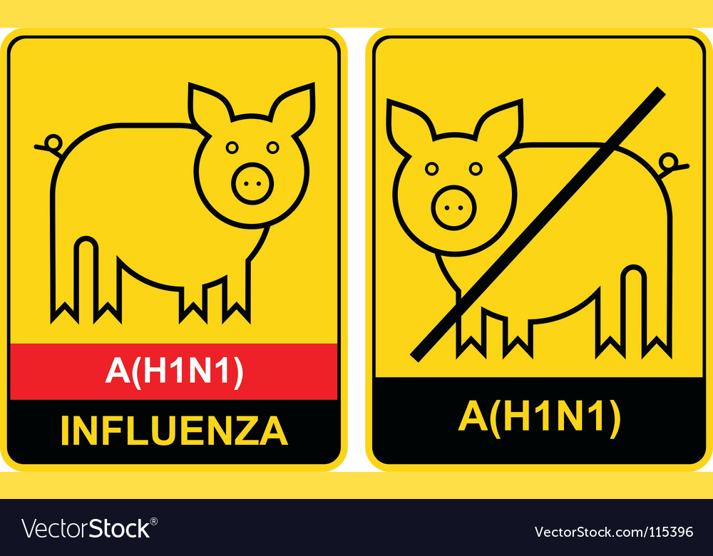Swine flu warning vector | Price: 1 Credit (USD $1)